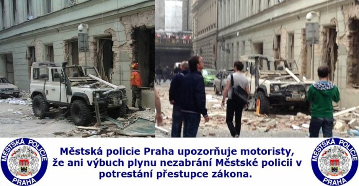 clamped in Prague after explosion (or before?)