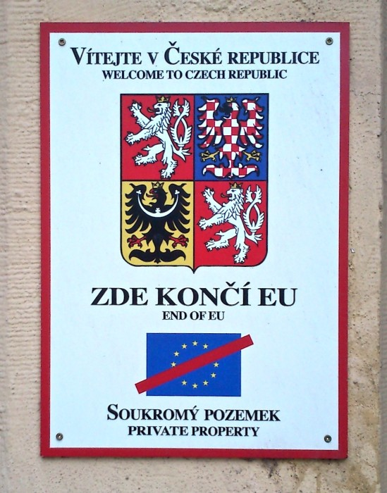 "A heartfelt ""welcome"" to all foreigners in Prague Dejvice."