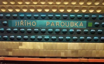 "The former metro station ""Jiřího Paroubka"", previously a Czech prime minister and now allegedly the mayor of Springfield. Source: Uncyclopedia"