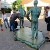 Peeing statues in Prague
